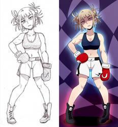 Himiko Toga The Boxer (Commission) by HeroSmacker