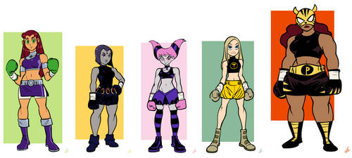 Teen Titans Girls (Boxing Commission)