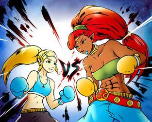 Zelda Vs Urbosa (Commission) by HeroSmacker