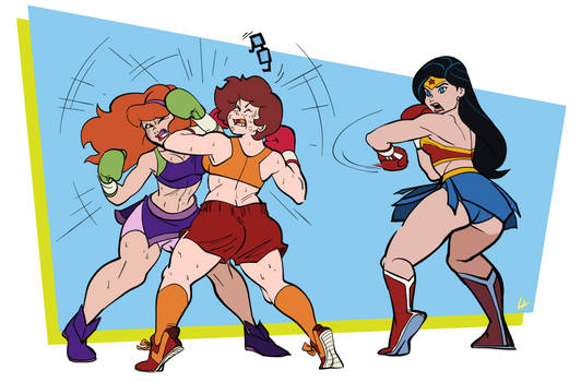 Velma And Daphne's Boxing Session (Commission)