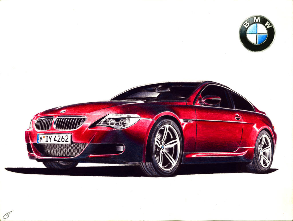 BMW M6 drawing