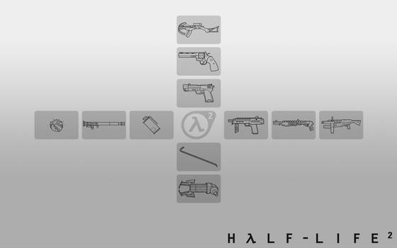 HL2 Weapon Selection White