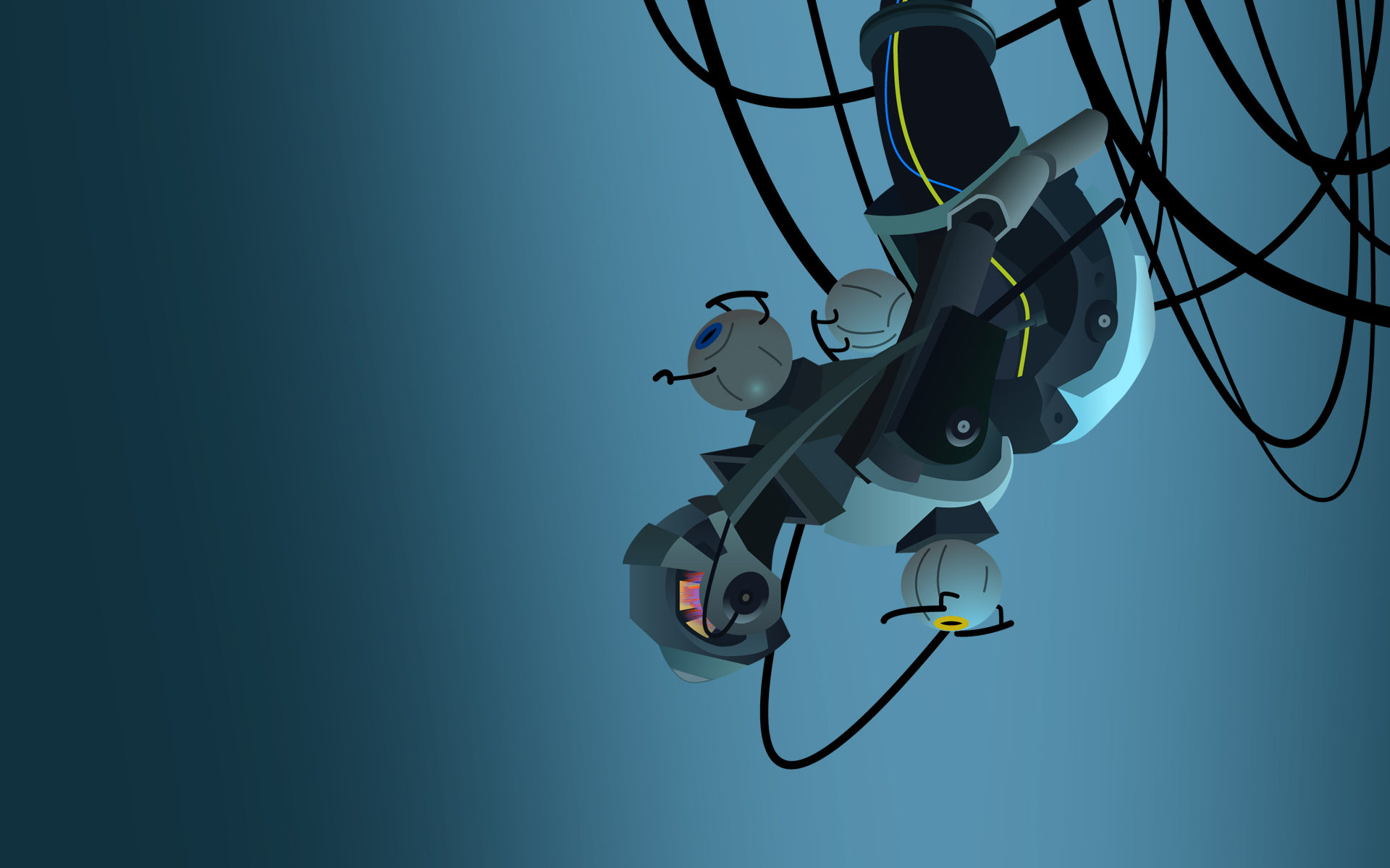 GLaDOS Wallpaper No Text by Zeptozephyr