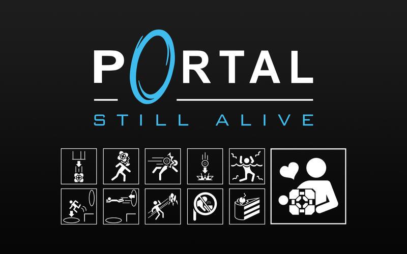 Portal - Still Alive Icons by Zeptozephyr