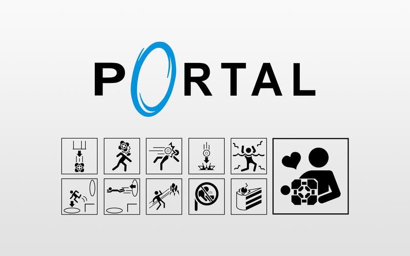 Portal Icon Wallpaper Light by Zeptozephyr