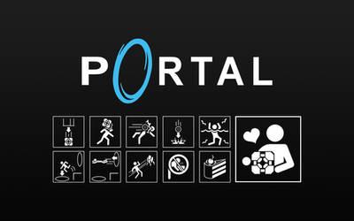 Portal Icon Wallpaper Black by Zeptozephyr