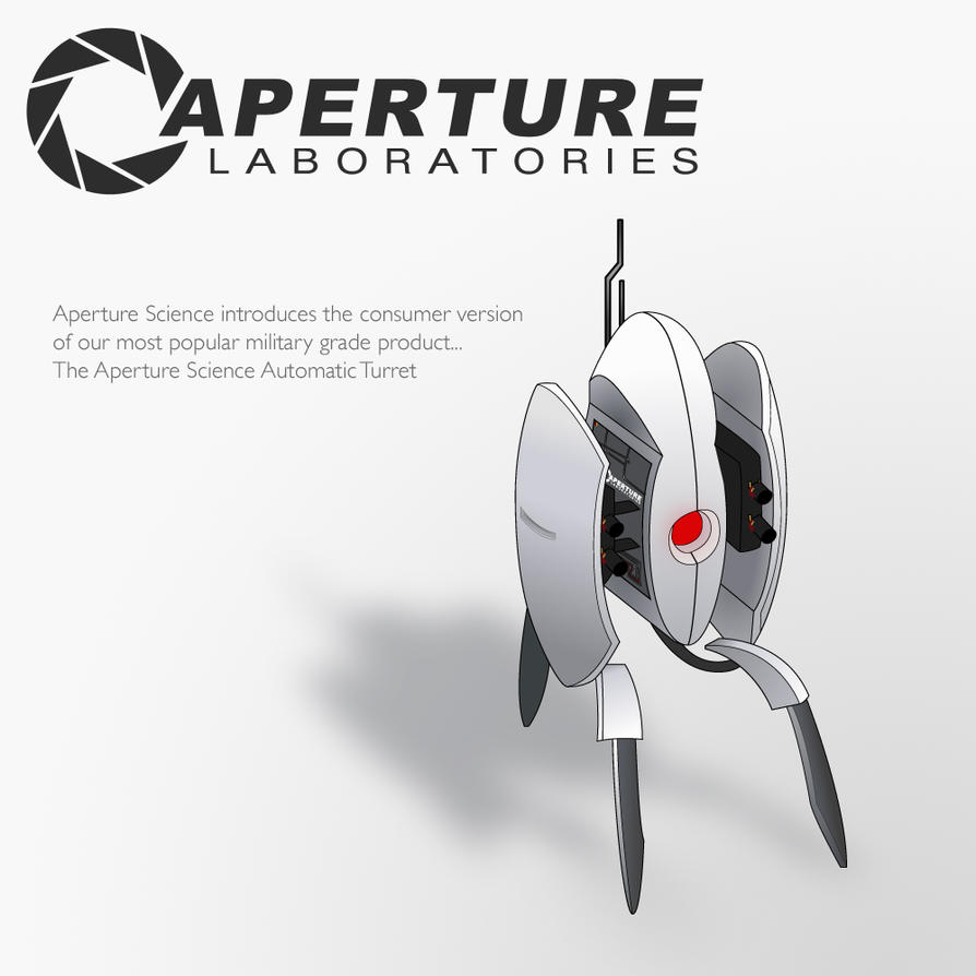 The Aperture Science Turret by Zeptozephyr