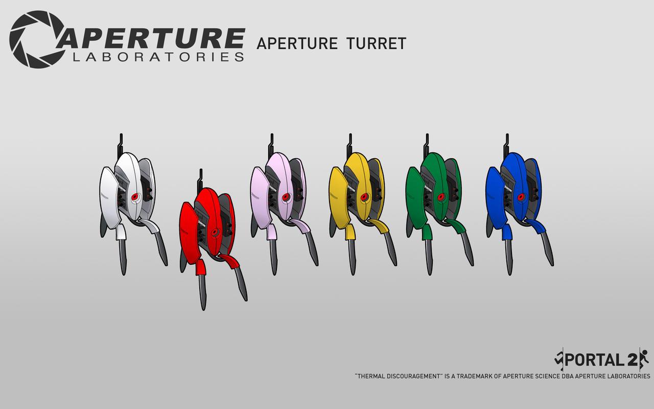 Aperture Turret Wallpaper