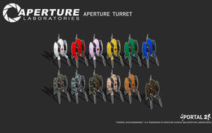 Aperture Turret Black by Zeptozephyr
