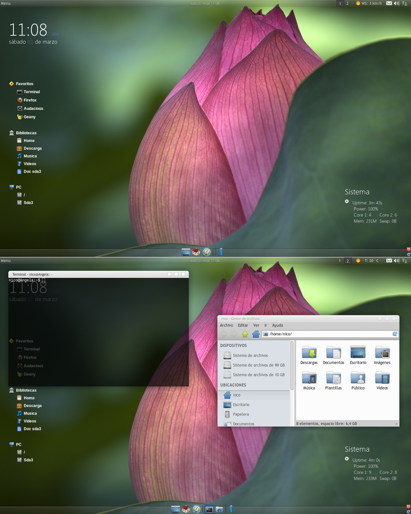 My XFCE, My Desktop =) 01-03-2014 by TerraToo