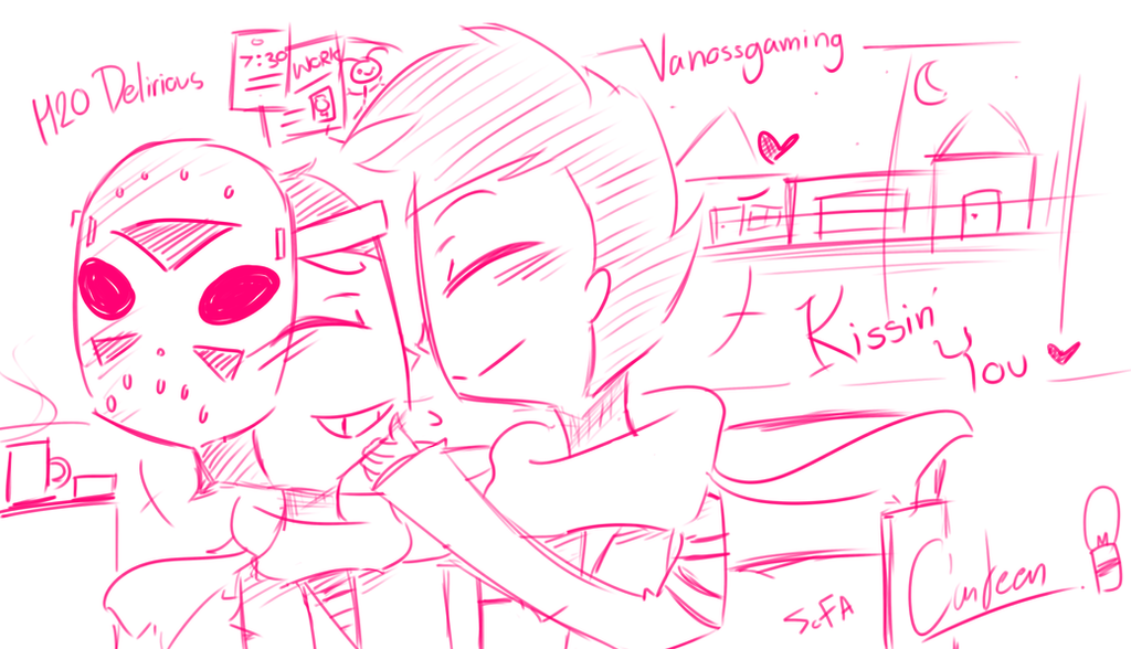 Vanossgaming and H20 Delirious - Kissing you by ... H20 Delirious Face