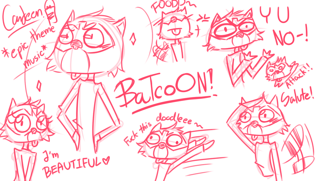 Doodle at night2 - Batcoon (H20 Delirious) by ... H20 Delirious Drawings