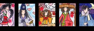 Okami Characters by Nanaowl