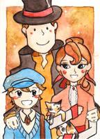 Prof. Layton: family portrait