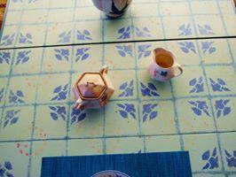 faux tile bluebirds by PlayfulArt