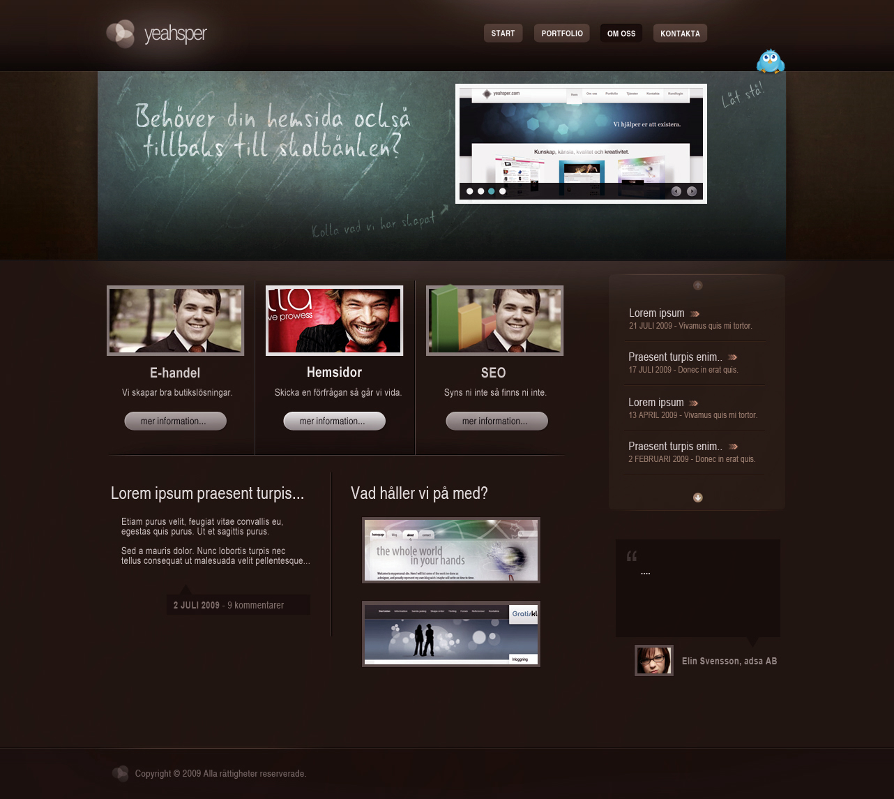 Portfolio theme by yehsper