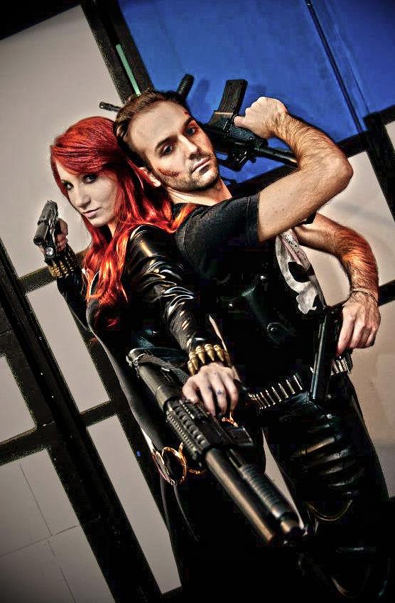 Punisher and Black Widow