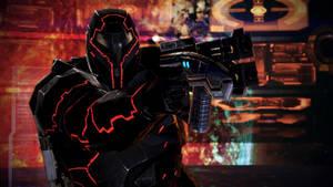 Commander Shepard in Terminus Armor by CreativeMachinima