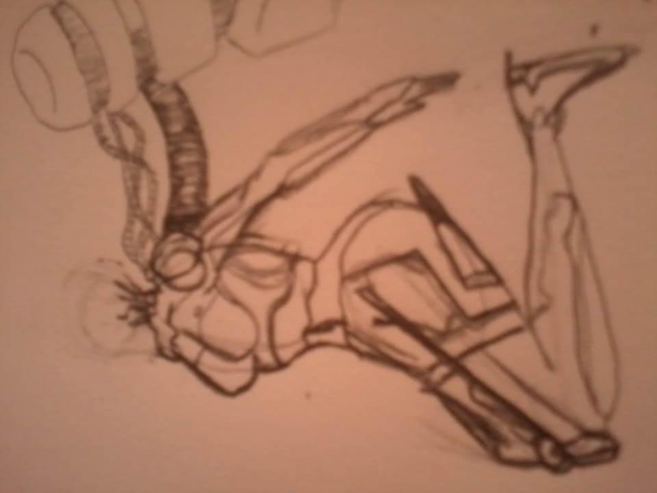 cyborg Sketch by GreedTheGreedy