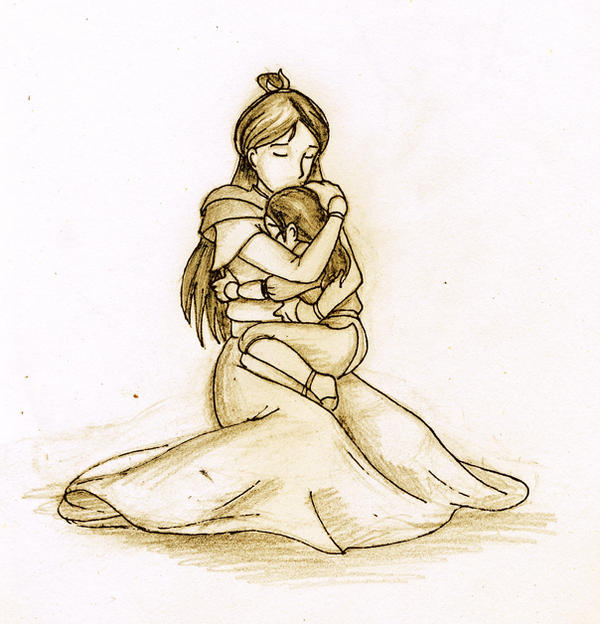 mother and daughter relationship sketches of girls