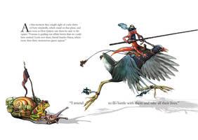 Don Quixote and Sancho Panza by Hullabaloo2