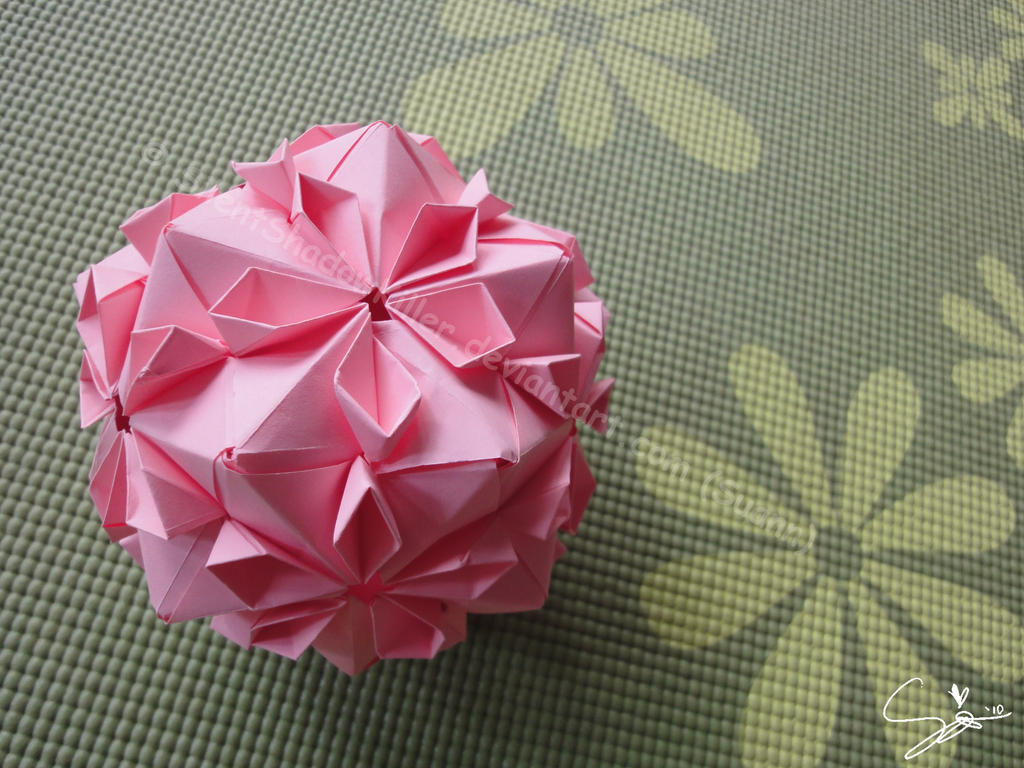 Origami Cherry Blossom Ball by SilentShadowKiller on ... - photo#8