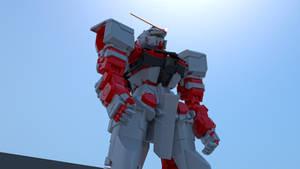 Gundam AstrayRedFrame - maya - renderman