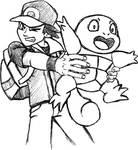 Pokemon Trainer with Squirtle