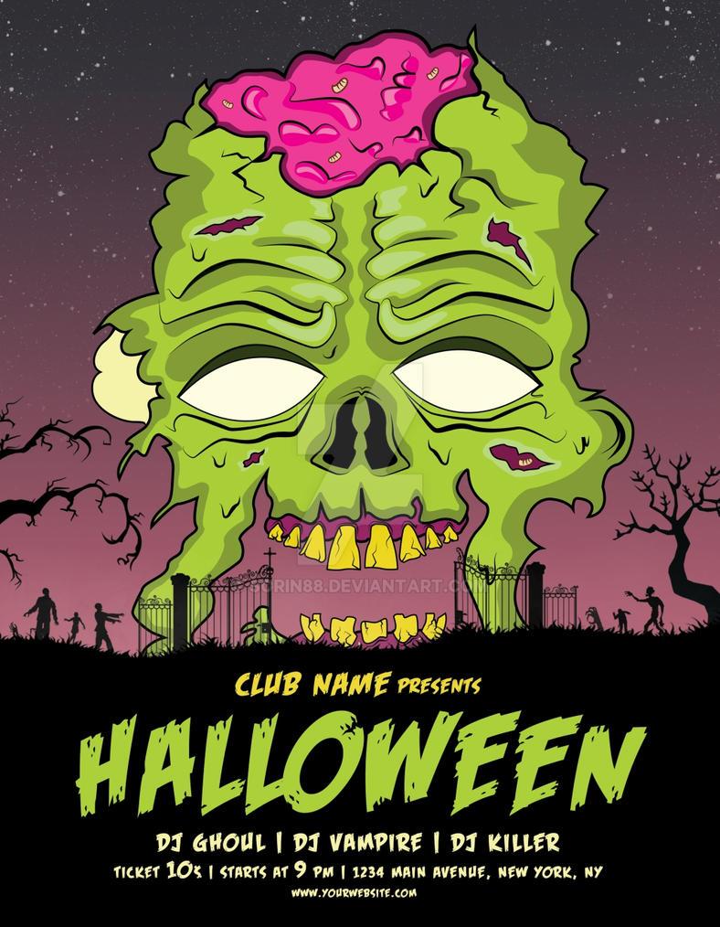 halloween poster flyer template by sorin88 on deviantart