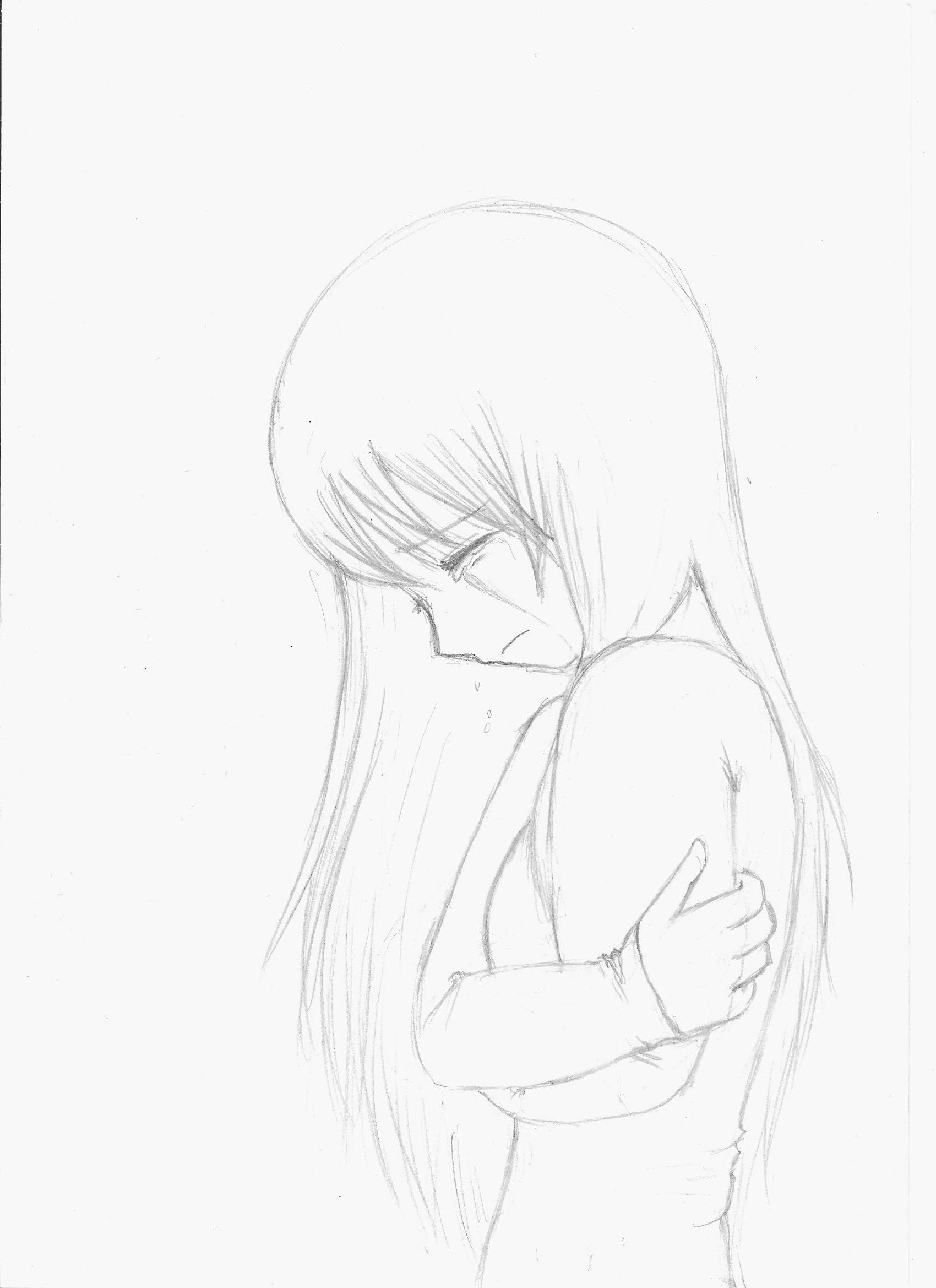 DeviantArt: More Like anime girl crying crossed arms [sketch] by ...