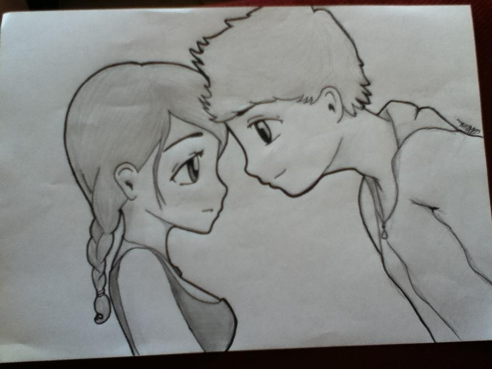 Cute couple easy drawing ideas images for Simple drawings for love