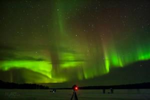 The full glow of the aurora by Gautama-Siddharta