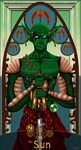 Namekian Tarot - The Sun by Sitar-sama