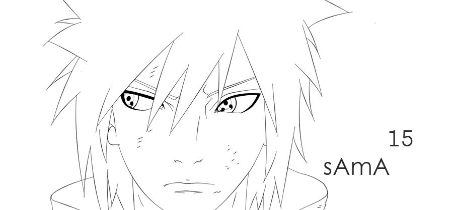 Sasuke Lineart : Manga naruto sasuke lineart by sama on deviantart