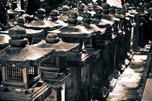 Stone lanterns in Nara