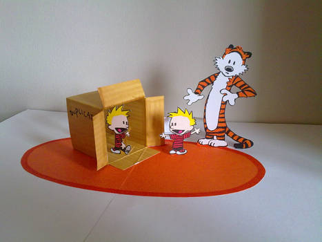 Calvin and Hobbes pop up
