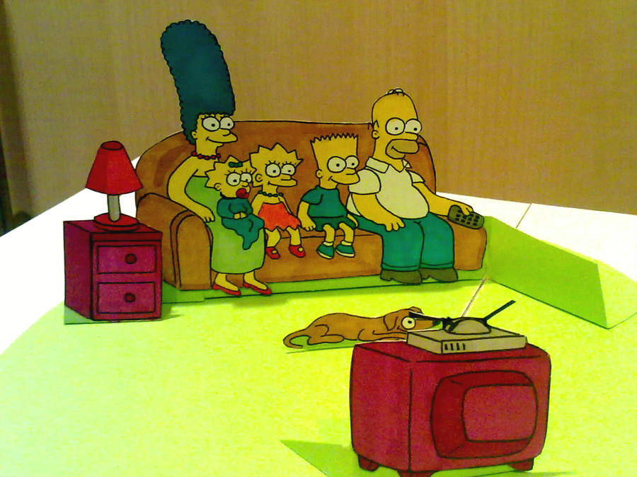 The Simpsons pop up by WillziakDS