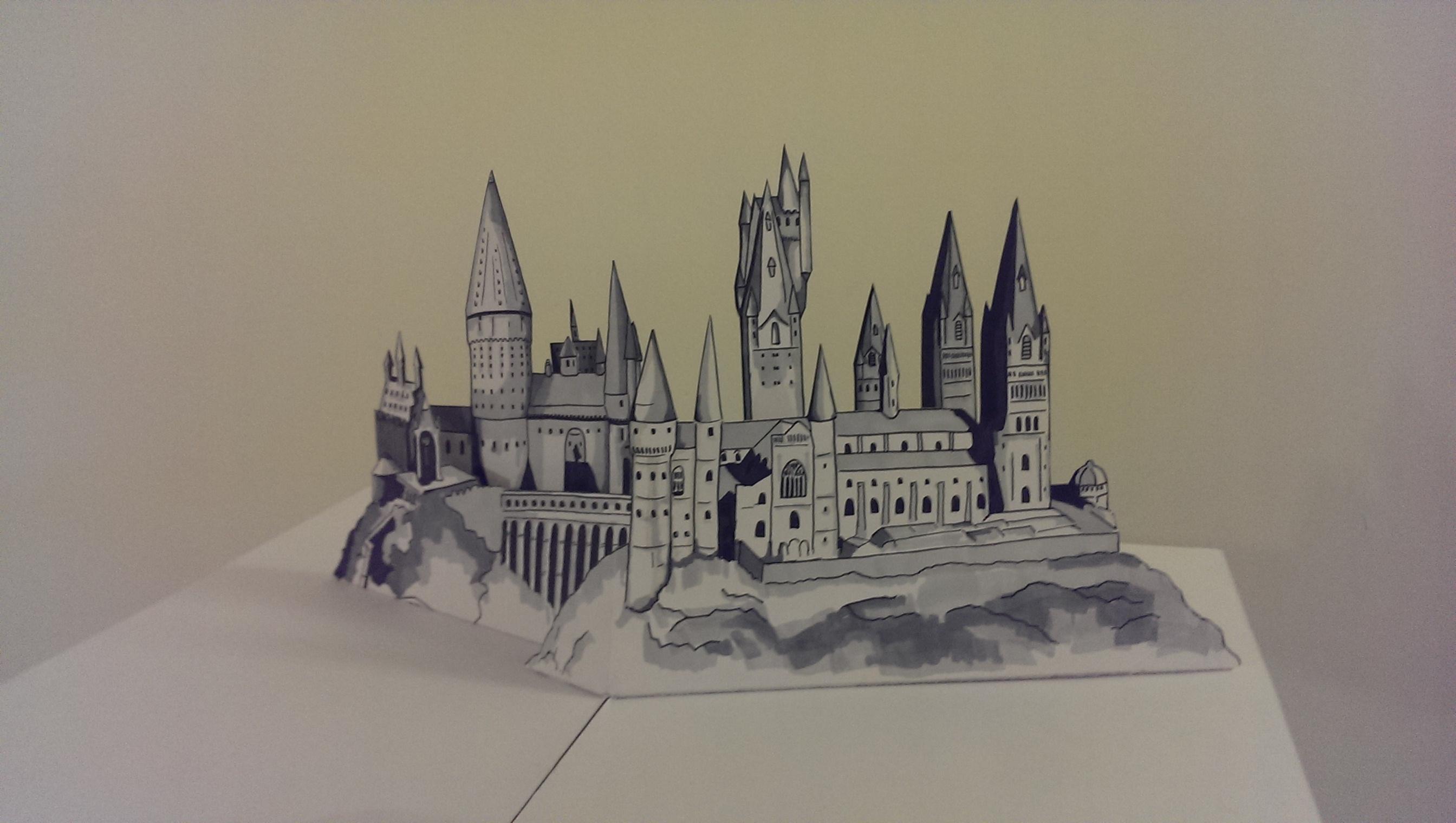 Hogwarts Castle Pop up by WillziakDS