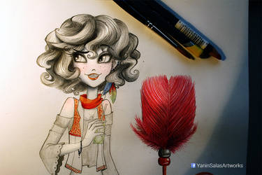 Girl and feather
