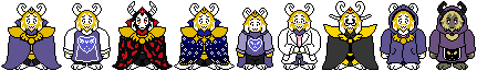 ASGORE ''Custom'' overworld sprite AUS! by LainorTheSkeleton