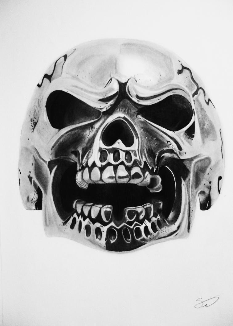 Metal skull by Saki-12