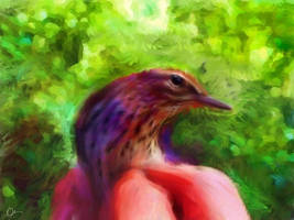 painting a bird wacon intuos by me