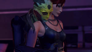 Thane Krios and Jane Shepard