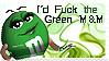 Green M'n'M Stamp by elegantlywasted2