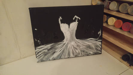 Attempt at Ballerina Tutu dress painting