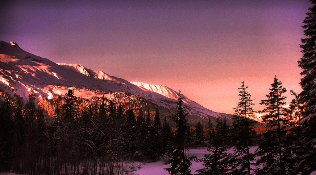 Sunset Mountain by Branmaster6622