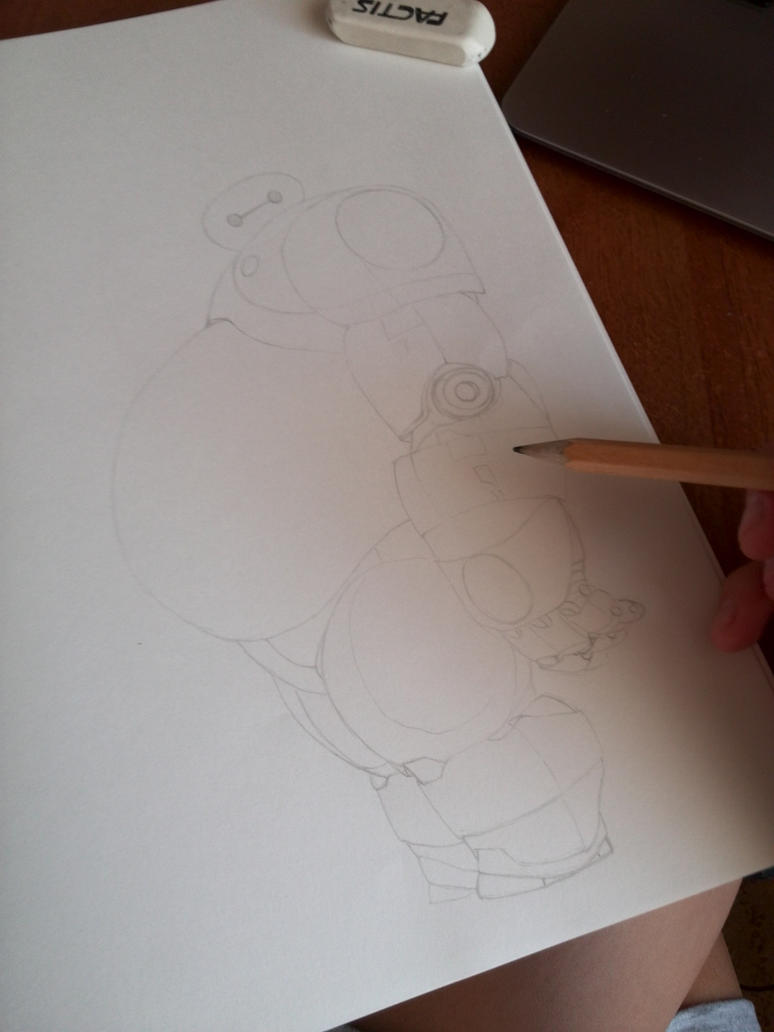 Baymax (Big hero 6) Step 1 by JuliaZombie