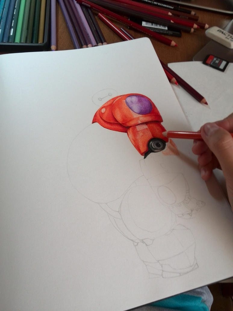 Baymax (Big hero 6) Step 2 by JuliaZombie