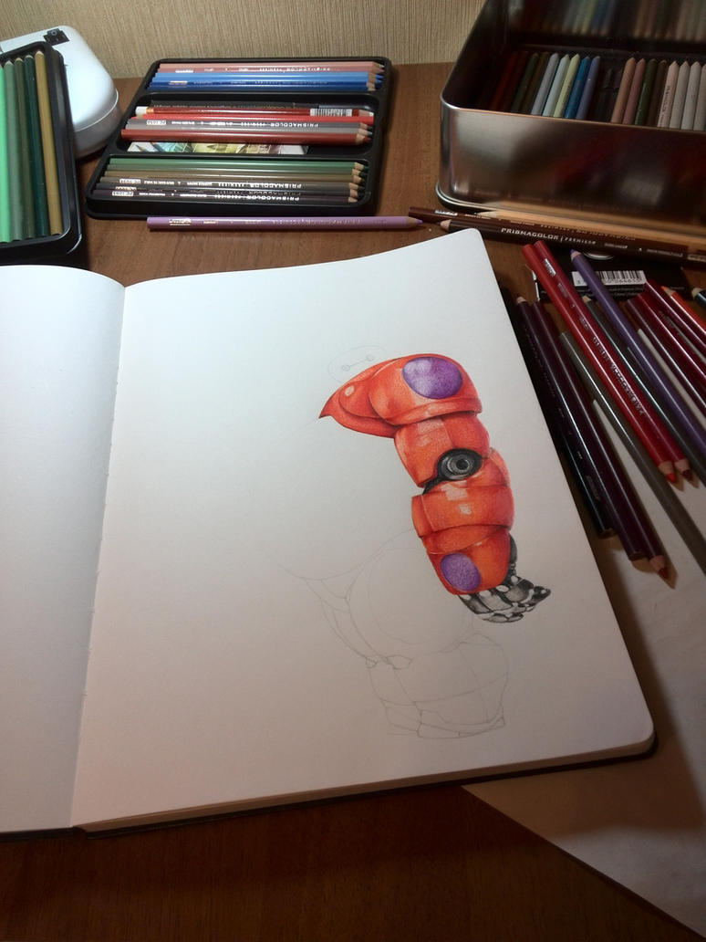 Baymax (Big hero 6) Step 3 by JuliaZombie
