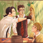 Marauders on the Herbology lesson.